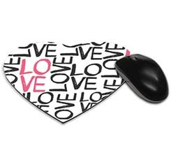 Tappetino mouse cuore Love words