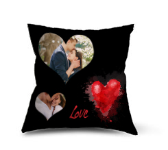 Cuscino in pile Black love