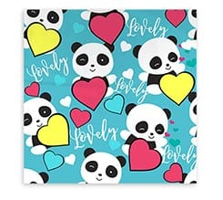 Federa Cuscino Lovely panda