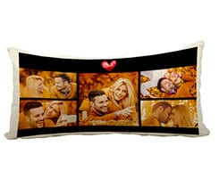 Cuscino Canvas 60x30 Cuore collage