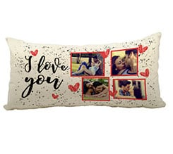 Cuscino Canvas 60x30 I love you collage