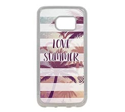 Cover Silicone Galaxy S7 Edge Love summer