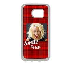 Cover Silicone Galaxy S7 Edge Tartan