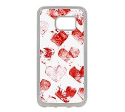 Cover Galaxy S7 in Silicone Heart spots