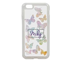 Cover iPhone 6 in silicone Farfalle