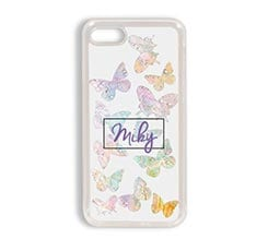 Cover iPhone 7 in silicone Farfalle