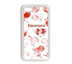 Cover iPhone 7 in silicone Hearts
