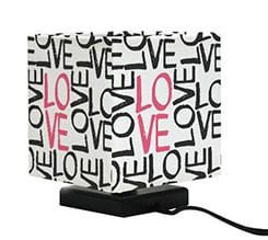Lampada Quadrata con Foto Love words