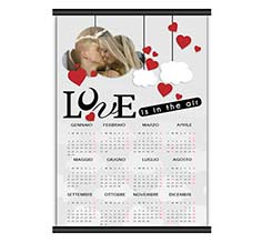 Calendario A3 pagina singola Lovely cloud