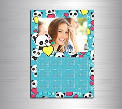 Calendario magnetico A3 Lovely panda