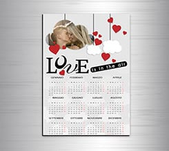 Calendario magnetico A3 Lovely cloud