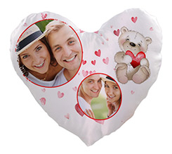 Cuscino cuore in Raso Sweet teddy bear