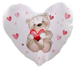 Cuscino cuore Sweet teddy bear