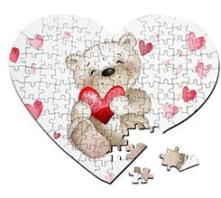Puzzle cuore A3 Sweet teddy bear