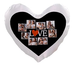 Cuscino cuore Lovely collage