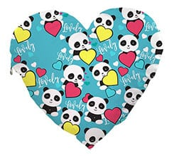 Cuscino Cuore Elite Lovely panda