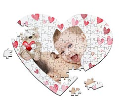 Puzzle cuore A4 Sweet teddy bear