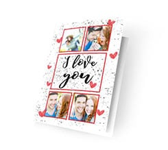 Cards I love you collage