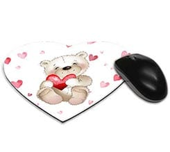 Tappetino mouse cuore Teddy bear