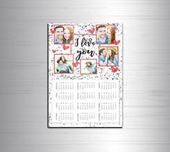 Calendario magnetico A4 I love you