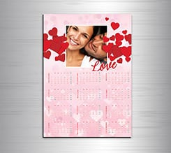 Calendario magnetico A3 Storm of hearts