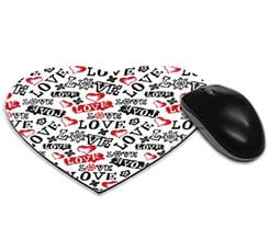 Tappetino mouse cuore Love in caos