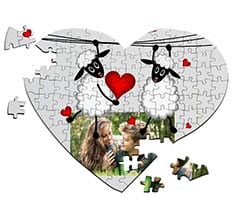 Puzzle cuore A4 Sweet sheeps