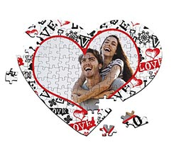 Puzzle cuore A4 Love in caos