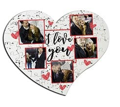 Puzzle cuore masonite A4 I love you
