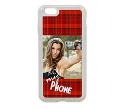 Cover iPhone 6 in silicone Tartan