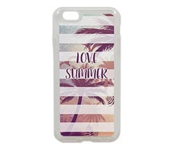 Cover iPhone 6 in silicone Love summer