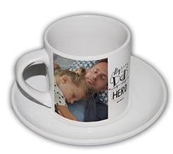 Tazza caffè Americano Dad is my hero
