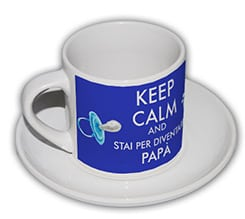 Tazza caffè Americano Keep calm dad
