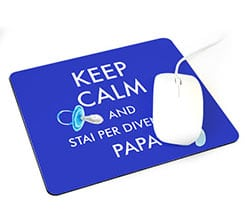 Tappetino mouse rettangolare Keep calm dad