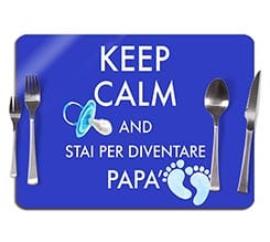 Tovaglietta in sughero Keep calm dad