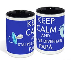 Portapenne in ceramica Keep calm dad