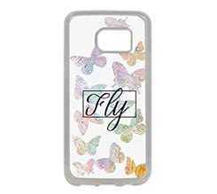 Cover Silicone Galaxy S7 Edge Farfalle