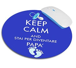 Tappetino mouse tondo Keep calm dad