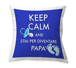 Cuscino classico Keep calm dad