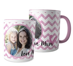 Tazza panoramica Love mum rosa