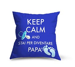 Cuscino Artigianale in Poliestere Keep calm dad