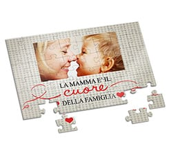 Puzzle A4 Heart of family