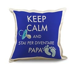 Cuscino in Juta Keep calm dad