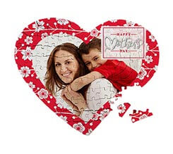 Puzzle cuore A4 Mother's day