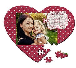 Puzzle cuore A3 Super mom