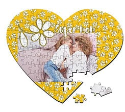 Puzzle cuore A3 Margherite