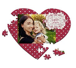Puzzle cuore A4 Super mom