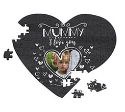 Puzzle cuore A4 Mummy