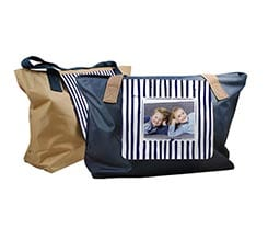 Borsa fashion Righe blu