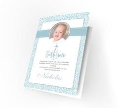 Cards Blue baptism